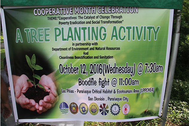 SDCC participates in the tree planting activity  in celebration of the cooperative month